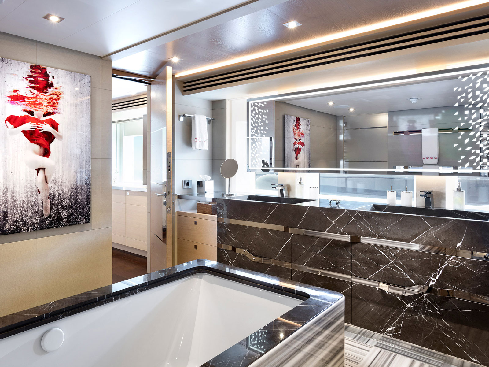 superyacht bathroom finished