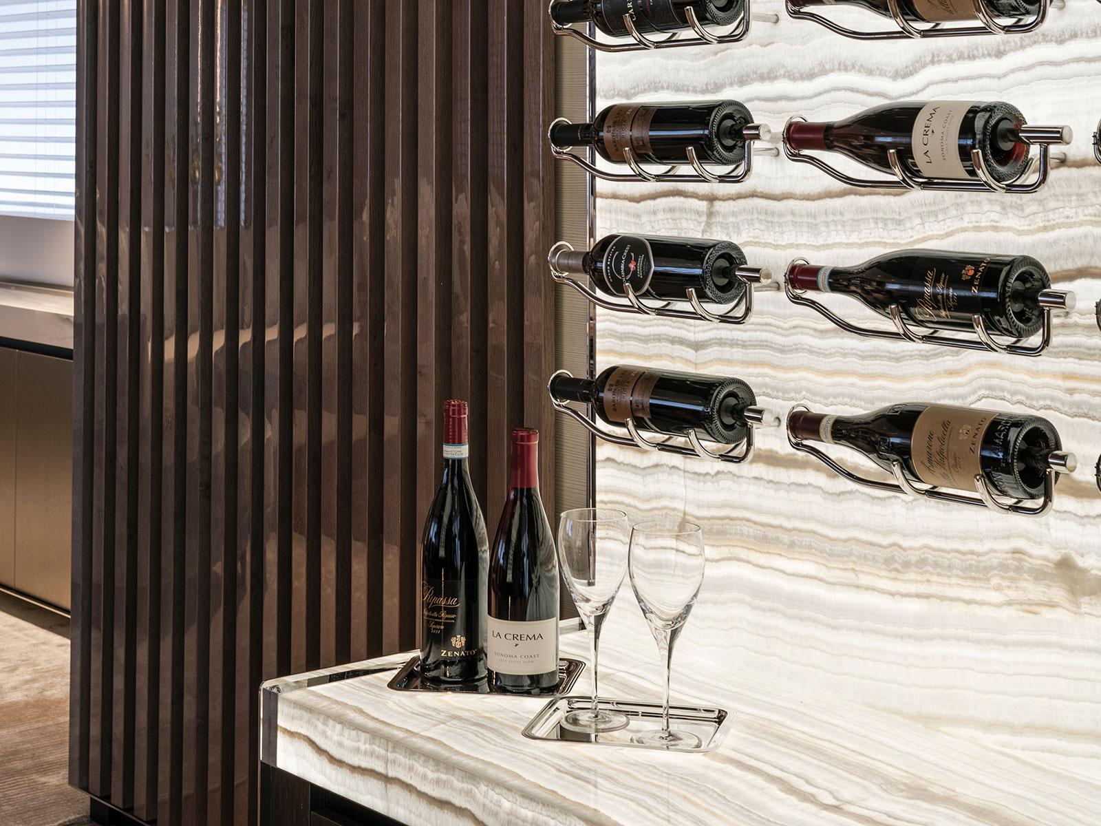backlit wine display